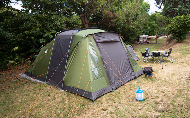 Tent on a camping plot