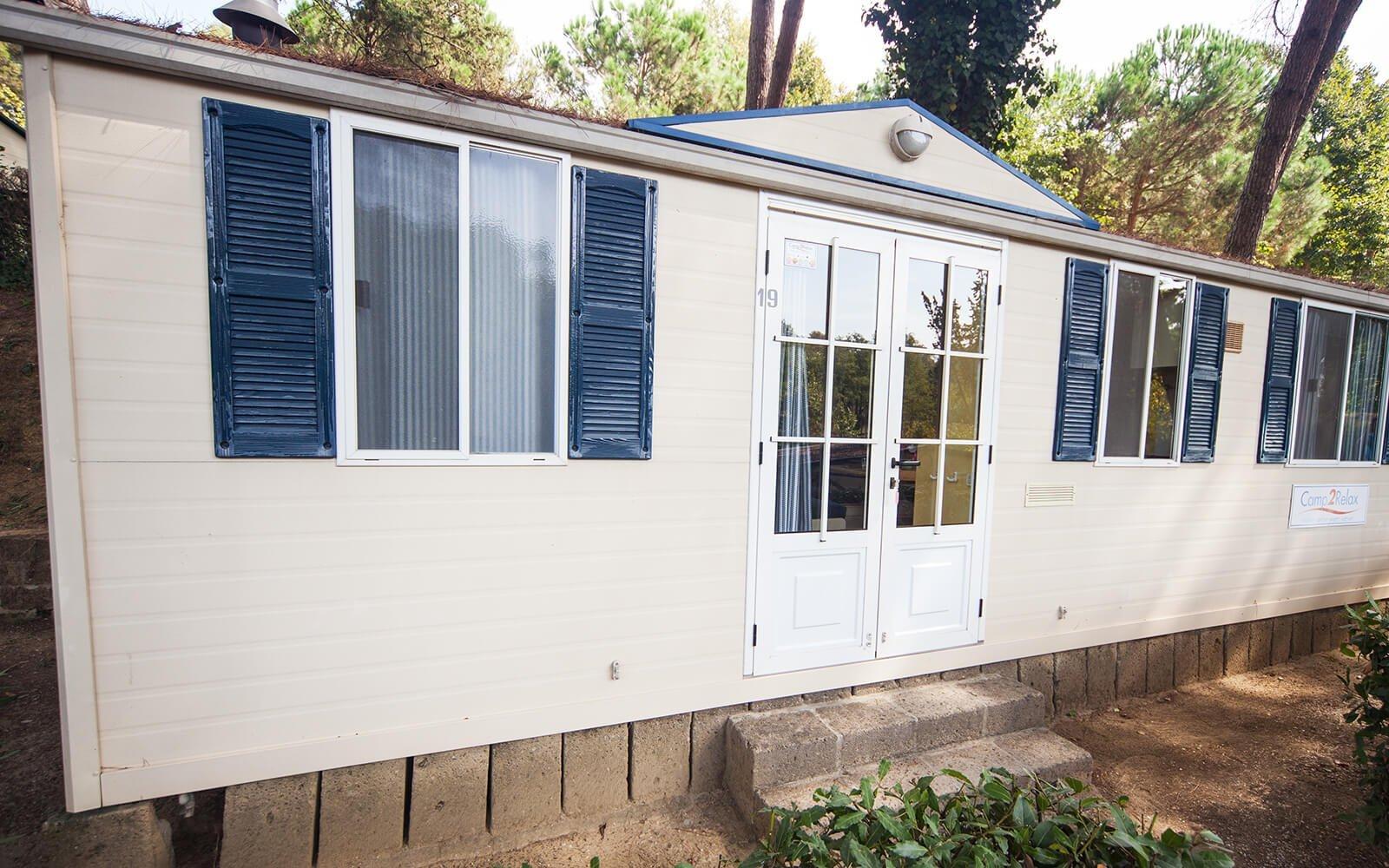 Front door of Classic mobile home