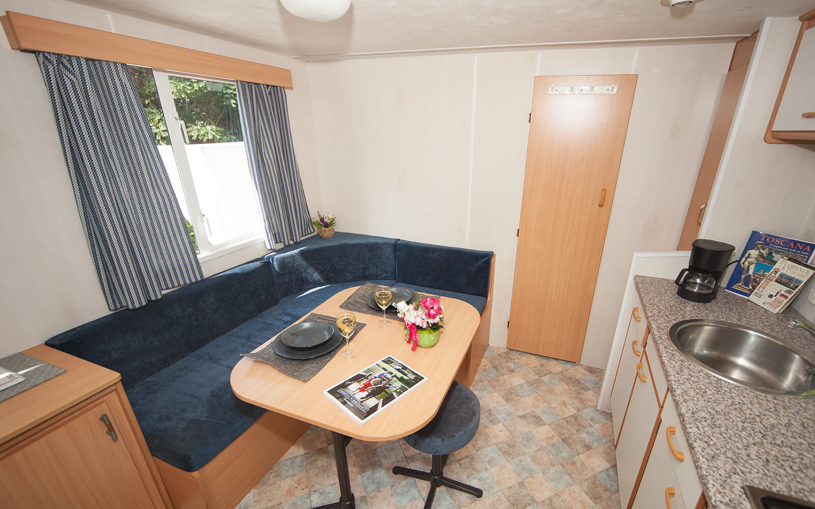 Dining area of Classic Mobile Home