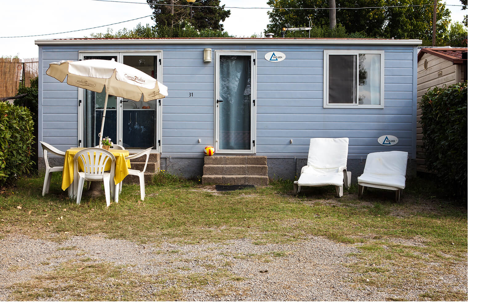 Exterior of Comfort mobile home