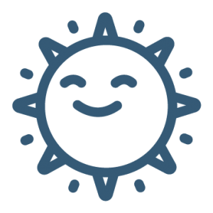 Smilin sun icon
