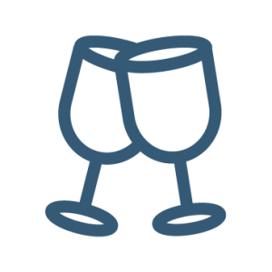 Blue Wine Glasses Icon