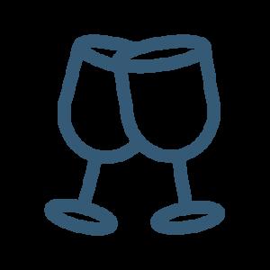 Blue Wine Glasses Icon