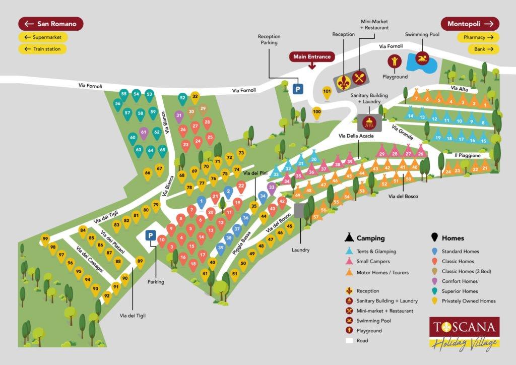 Toscana Site Map