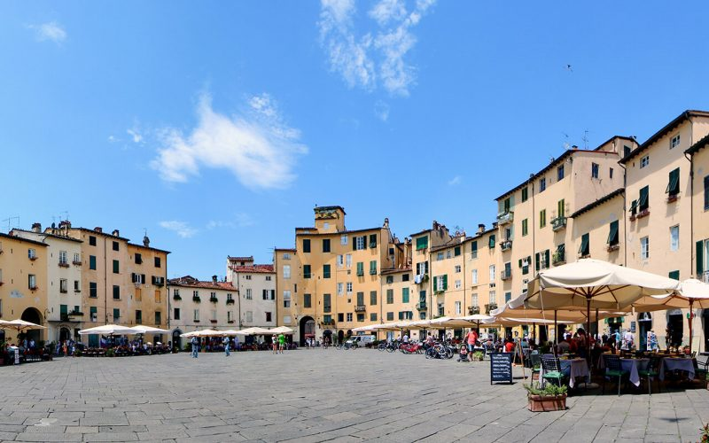 View of town square in Lucca