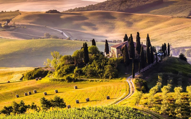 View of Tuscany countryside